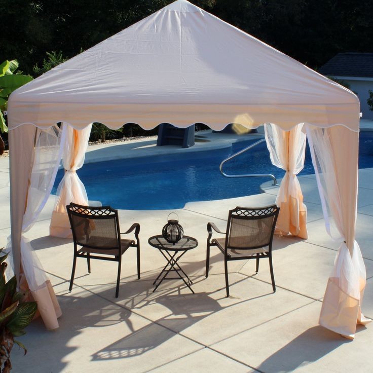 King Canopy 10 x 10 ft. Garden Party Gazebo Canopy - Thisgood-looking gazebostands up to all weather, making it the perfect backyard, patio, or poolside addition. The protective covering is a...