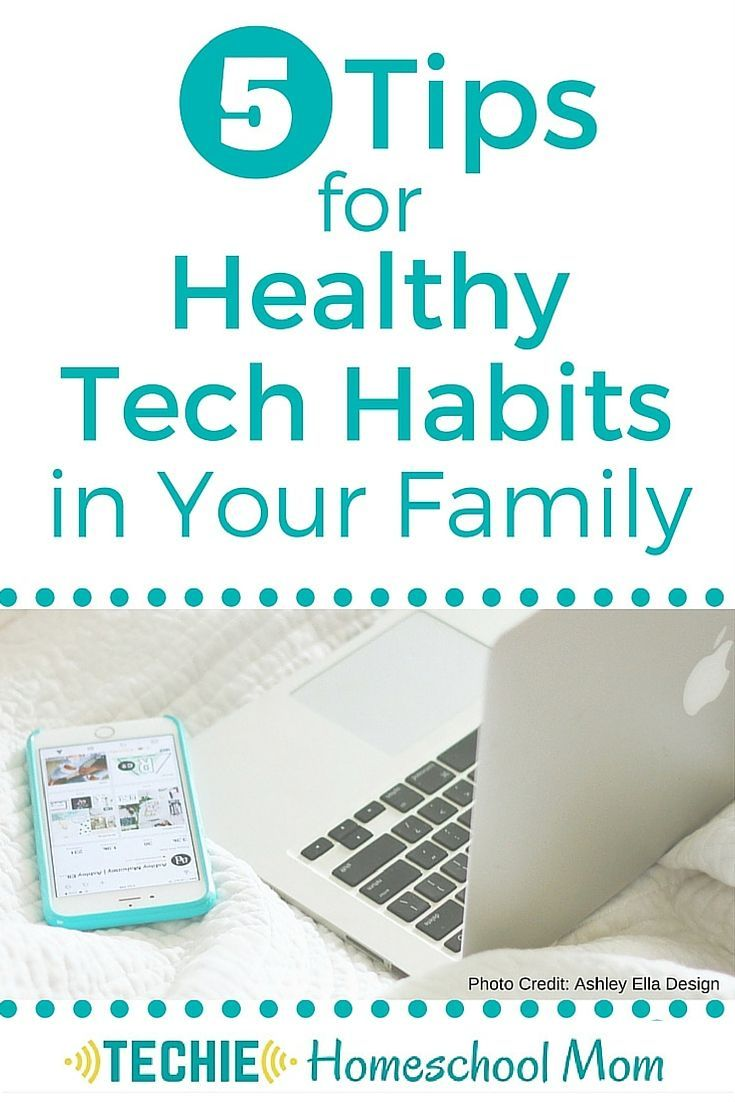 Your family needs to know how to use technology in a healthy and productive way. Read 5 tips for encouraging healthy tech habits in your family.