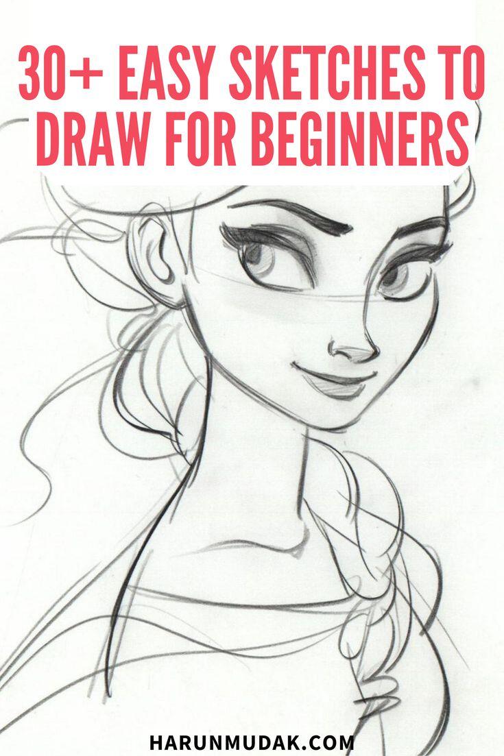 beginners easy sketches drawing draw drawings sketch beginner simple step pencil eye practice animals harunmudak