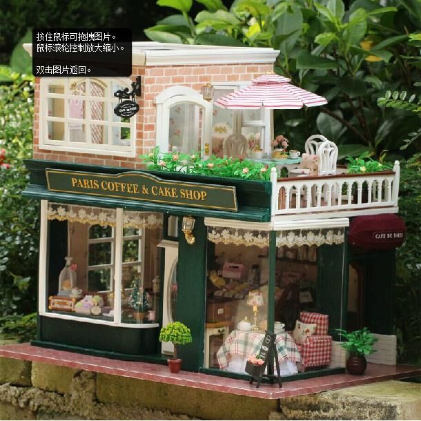 Find More Model Building Kits Information about New Parent Child Hand assembling Building Model Kit Big Size 3D DIY Wooden Doll House Romantic Coffee Shop Model Toy W/Furniture,High Quality toy park,China furniture two Suppliers, Cheap toy great white shark from MD Fashion Mall on Aliexpress.com