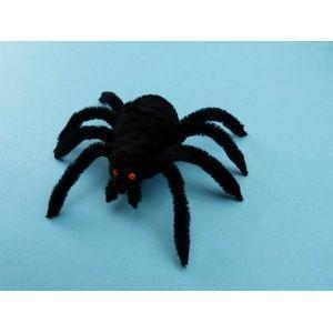 Basteln mit Pfeifenputzer | Ein gruslige Spinne zu Halloween basteln.