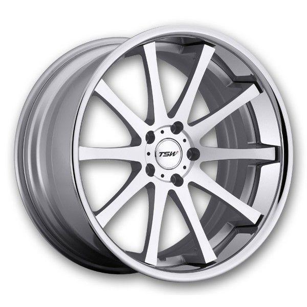 TSW Wheels Jerez 2Pc 20x8.5 Silver Machine w/ SS Lip High Offset (TSW-Rims-JEREZ-20-85SMCLH.s)