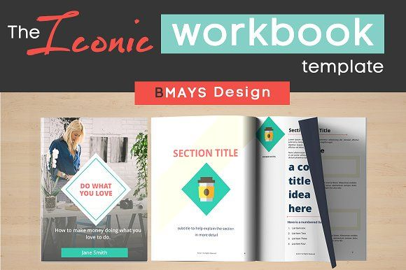 Iconic Workbook and Layout Template by BMAYS Design on @creativemarket