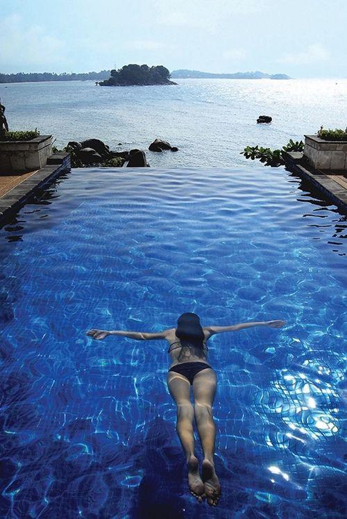 open blue sea....