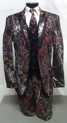 NEW Mens Mossy Oak Camo Tuxedo Jacket Camouflage Blazer Prom Wedding ALL SIZES
