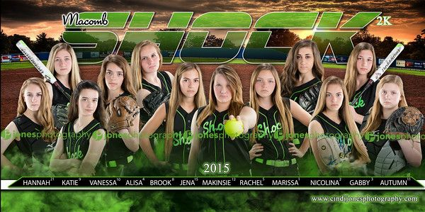 Shock Softball Team Banners_Jones Photography_JonesPhotography_Sports Banner_Softball Banner_Baseball Banner_Team Pictures_Softball Posters_Sports Posters_Softball Team Pictures_Macomb County Photographer_Sterling Heights Photographer
