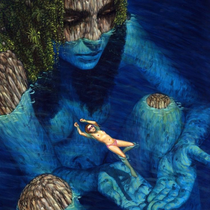 """Image of """"You Lagoon"""" Limited Edition Print 13x16  Surrealism By Casey Weldon"""