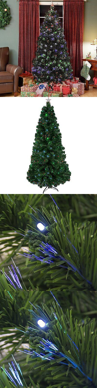Artificial Christmas Trees 117414: Best Choice Products Pre-Lit Fiber Optic 7 Green Artificial Christmas Tree With -> BUY IT NOW ONLY: $92.02 on eBay!