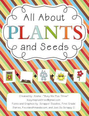 ALL ABOUT PLANTS and SEEDS, Plant Life Cycle Observation Journal, Crafty from Busy Me Plus Three on TeachersNotebook.com -  (116 pages)  - A great unit over the life cycle of plants!