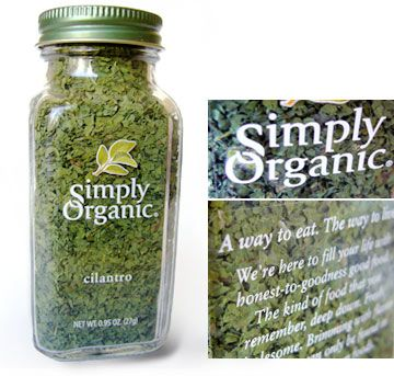 Simply Organic package