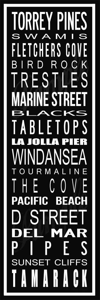 San Diego Surf Spot Poster in Printable File by BonTempsBeignet, $25.00