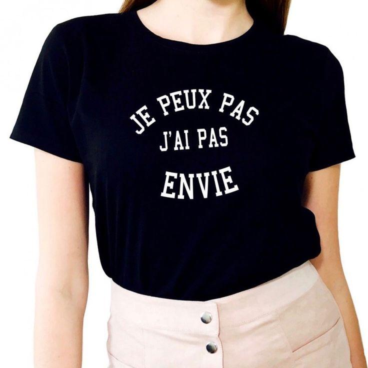 T-shirt Femme JE PEUX PAS J'AI PAS ENVIE - LUXE FOR LIFE De Paris