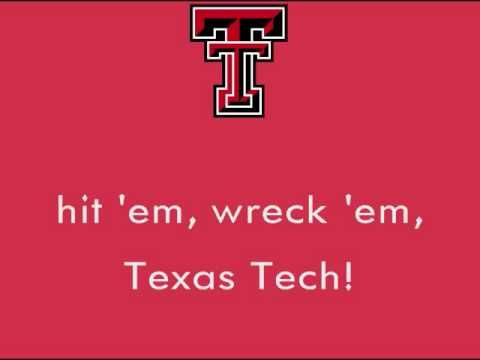 Texas Tech University Red Raiders - fight song with words - Fight Raiders, Fight