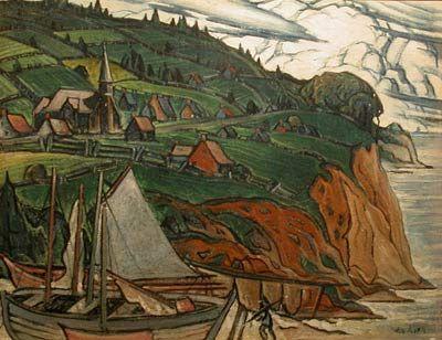 """""""L'Anse aux Gascons"""" (c.1941), Marc-Aurèle Fortin"""