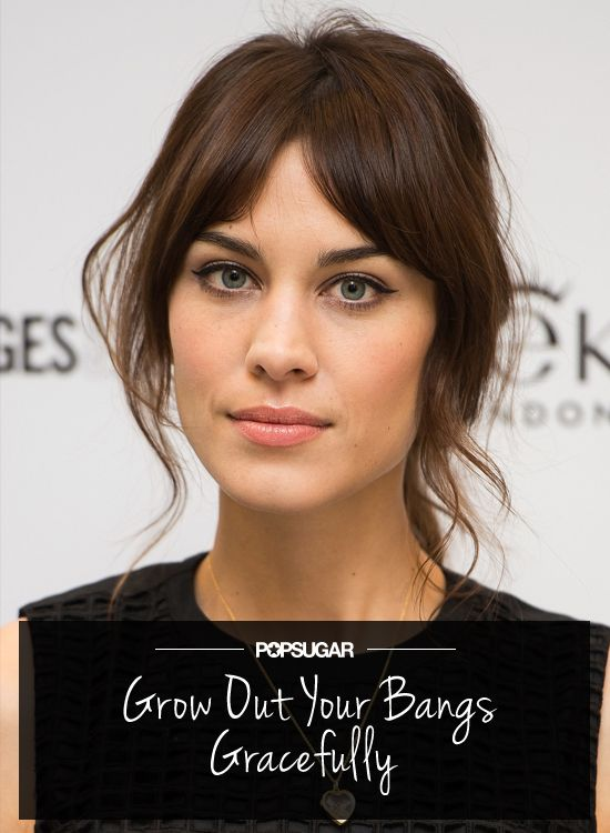 Don't split them down the middle. Whatever you do. Your Ultimate Guide to How to Grow Out Bangs Gracefully