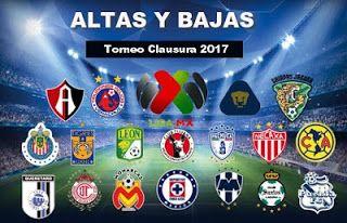 Blog de palma2mex : Altas y Bajas futbol mexicano Torneo Clausura 2017...