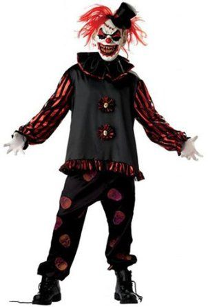 Carver the Killer Clown Halloween scary clown costume - Large (42-46inch chest): Amazon.co.uk: Toys & Games