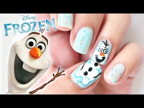 Disney FROZEN ❄ OLAF Inspired Nails #12DaysXmasChallenge - Day 2 - Best 25+ Disney Frozen Nails Ideas On Pinterest Olaf Nails