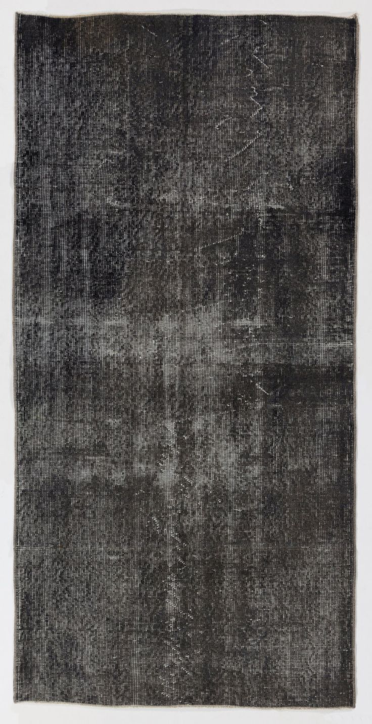 "3'2"" x 6'4"" (95 x 193 cm) Turkish Overdyed Rug, Dark Gray by Zorlus on Etsy"