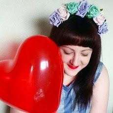 Pastel Crown and Glory floral headband and heart balloon