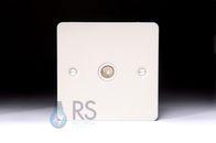 Schneider Flat Plate TV Socket White Metal GU7210WPW-£15