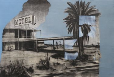 "Saatchi Art Artist Tom Keevill; Painting, ""The Salton Sea"" #art"