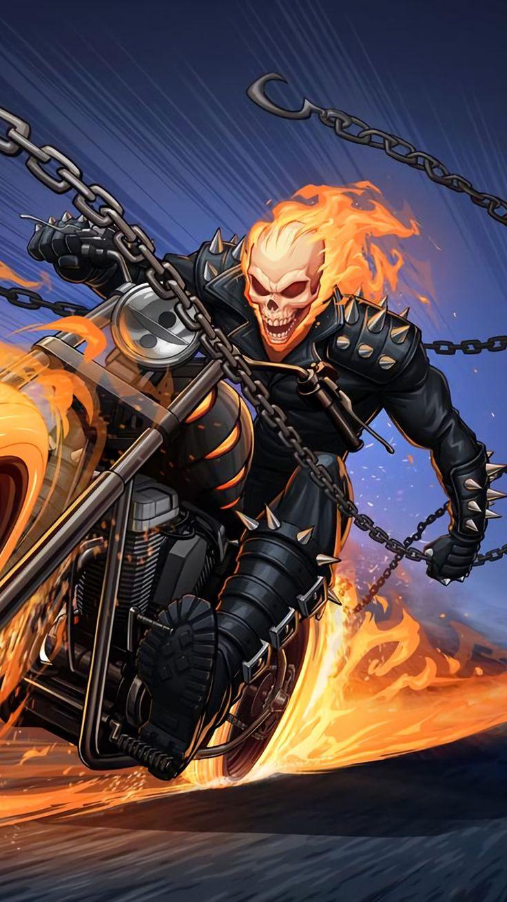 Download Superhero wallpapers Ghost rider marvel, Ghost