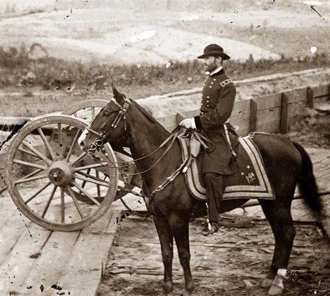 civil war pictures | Atlanta, Georgia General William T. Sherman on horseback at Federal ...