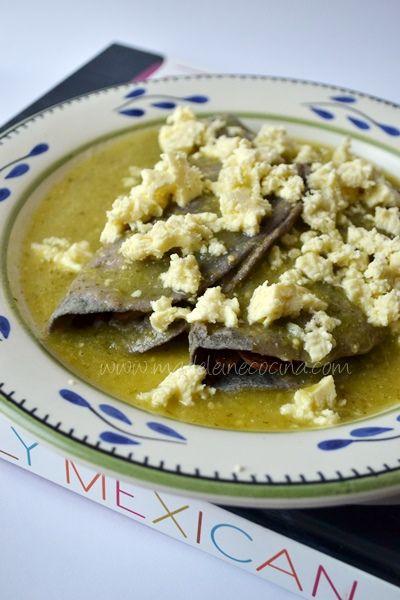 Enchiladas vegetarianas, receta del libro  #TrulyMexican de Roberto Santibañez