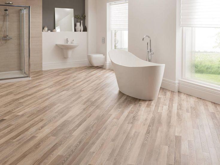 Light Natural Wood Effect Vinyl Flooring Tiles Planks