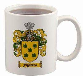 $15.99 Figueroa Coat of Arms Mug / Family Crest 11 ounce cup