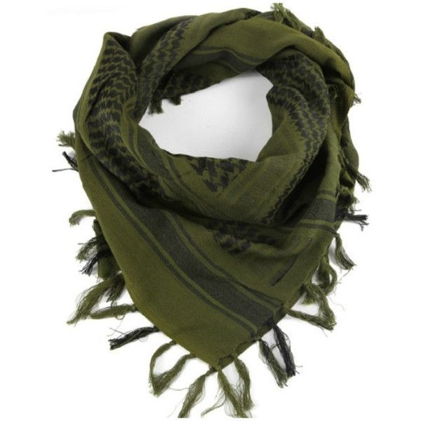 Women's Premium Military Shemagh Scarf Tactical Desert Arab Head Neck... ($12) ❤ liked on Polyvore featuring tops, green top and military top