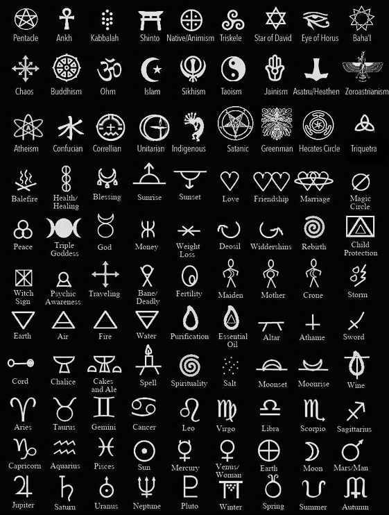 Magic symbols. Symbols are a big part of the work of an earthly practitioner … #work # of a #ground #magic