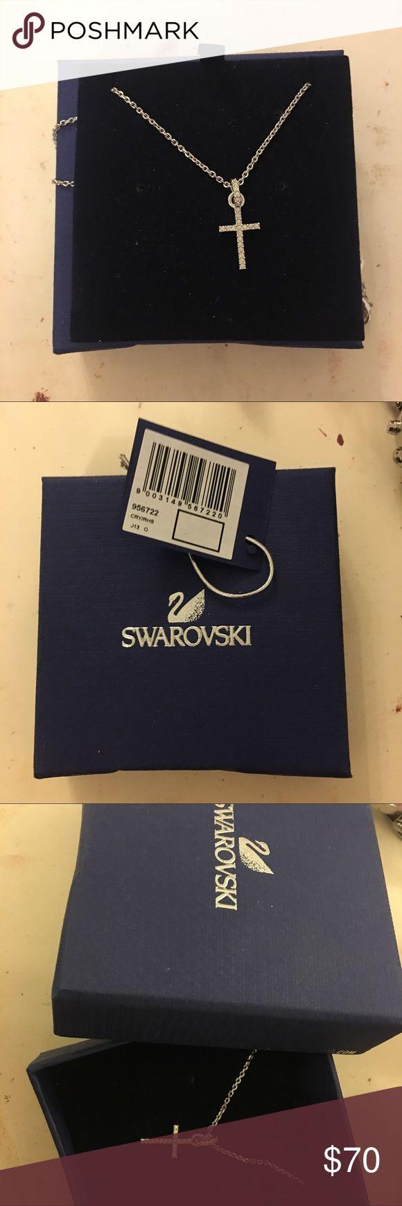Swarovski diamond cross necklace. BRAND NEW Diamond necklace with a cross. Brand new, box, & tag included. Swarovski Jewelry Necklaces