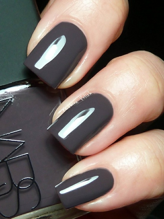 charcoal: Nars Nails, Nails Art, Nars Manosqu, Fall Nails, Nails Color, Nails Polish, Gray Nails, Dark Grey, Fall Color