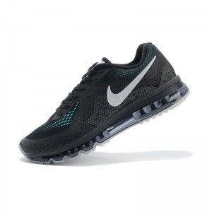 sports shoes b326b be264 New Nike Air Max 2014 Released Shoes Black Green