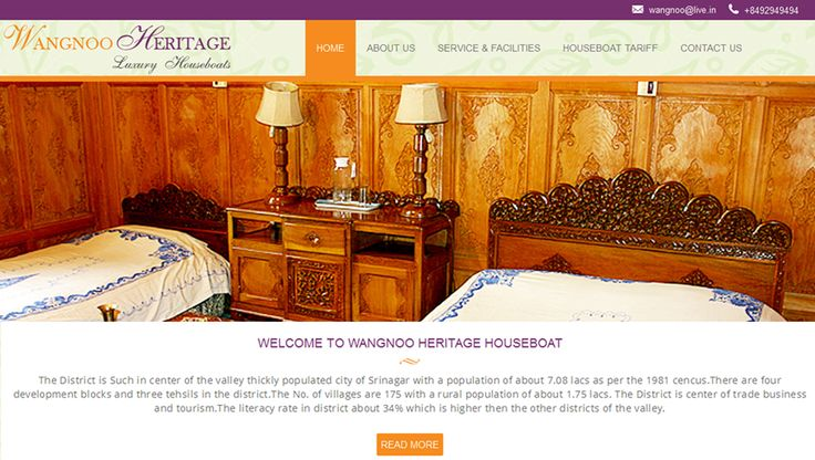 It was great to have designed & developed this responsive, clean-looking & quick-loading website for luxury houseboats in Srinagar, Wangnoo Heritage Houseboats. Our experts remain well-versed with the latest technologies and industry trends. http://goo.gl/gsrHPS