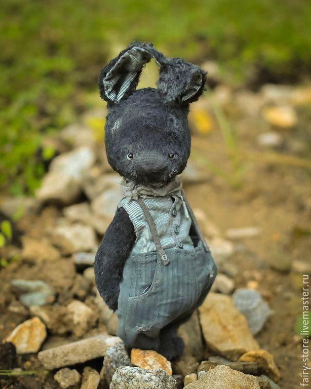 Купить Will - черный, изумрудный, заяц, заяц игрушка, заяц тедди, тедди зайка, зайчик