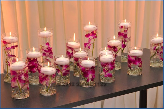 123 best candle center pieces images on pinterest for Picture frame candle centerpiece