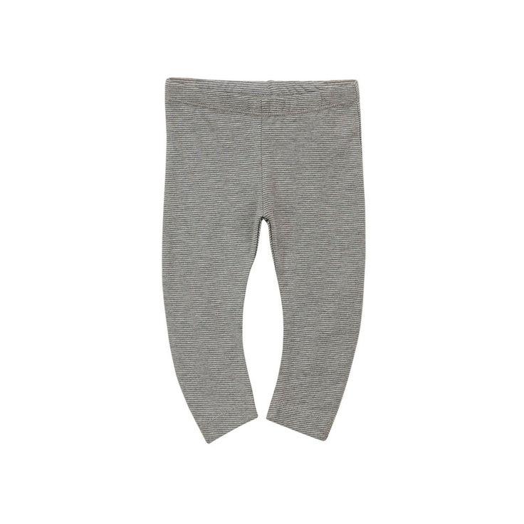 Curved Legging - Grey Melange/Smokey Grey Stripe