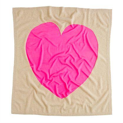 big heart blanket