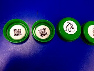 QR codes show the answers to math problems - could be a cool station idea