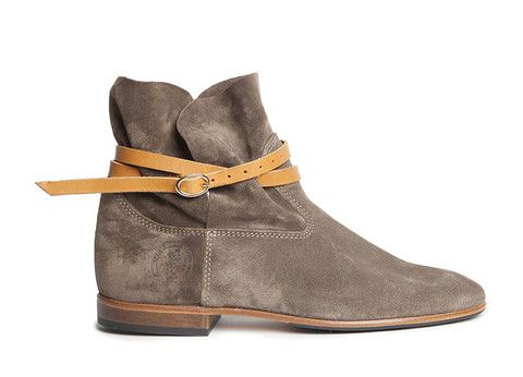Bottines in taupe suede