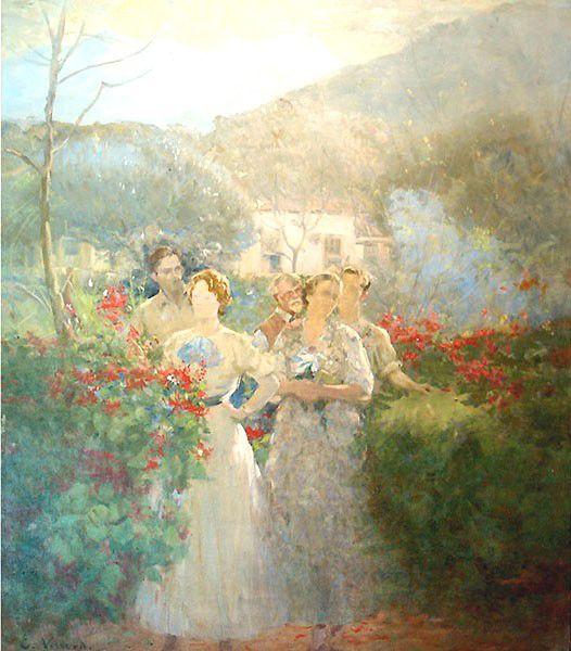 """""""Na Alameda-Teresópolis"""".  (1931). (by Eliseu Visconti)."""