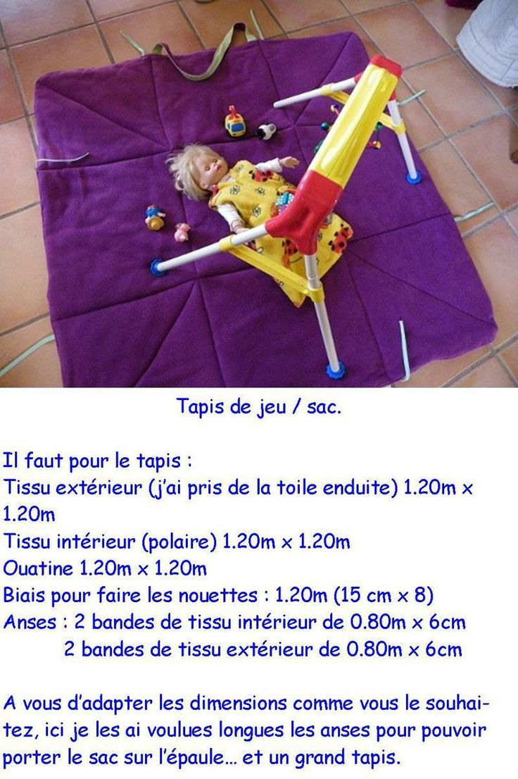 tuto tapis de jeu couture tricot and couture sewing. Black Bedroom Furniture Sets. Home Design Ideas