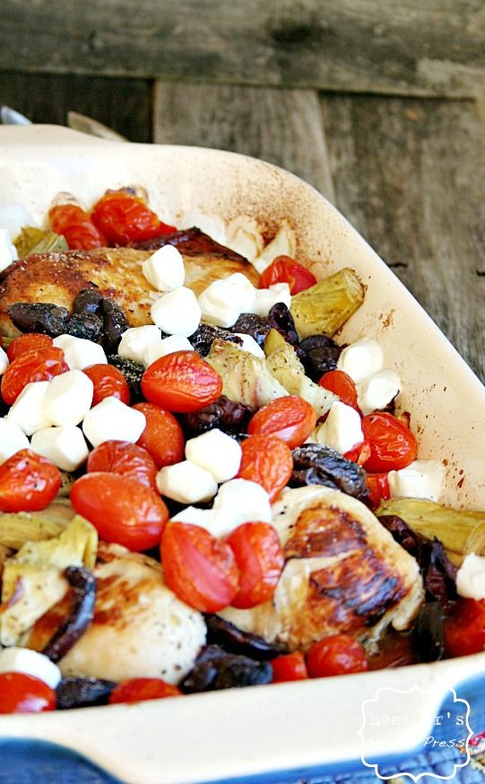 Mediterranean Style Chicken.