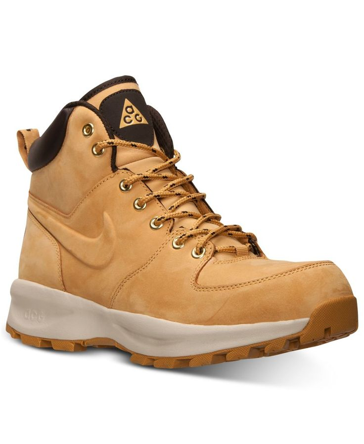 The Nike Manoa Leather men's boots are high top and versatile. Full leather offers superior durability and comfort. This Nike boot also complements an everyday wardrobe. | Leather upper; Rubber sole |