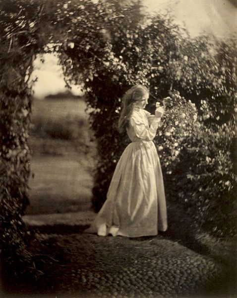 Vintage secret garden.  The Gardener's Daughter, Julia Margaret Cameron, 1865