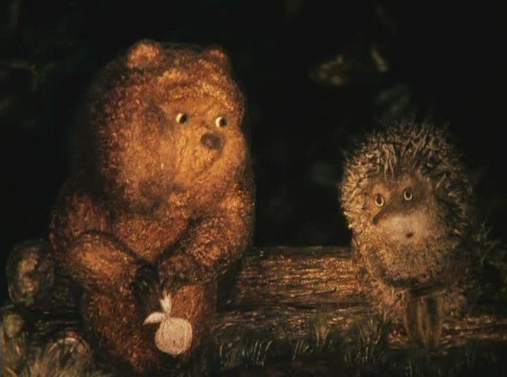 Картинки ежик и медвежонок с надписью