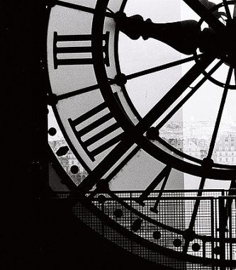Paris photography a moment in paris black and white photography living room art clock at the musee dorsay black and white paris print